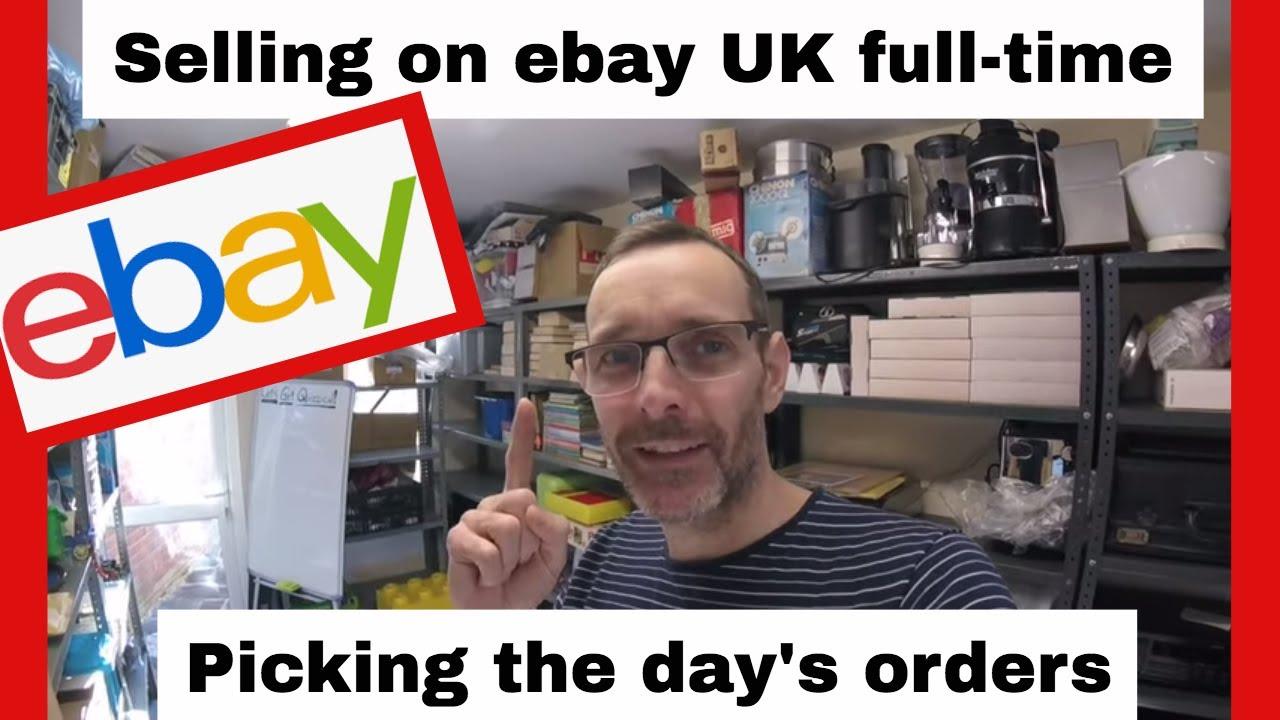 Reselling On Ebay Uk Picking My Ebay Orders Youtube