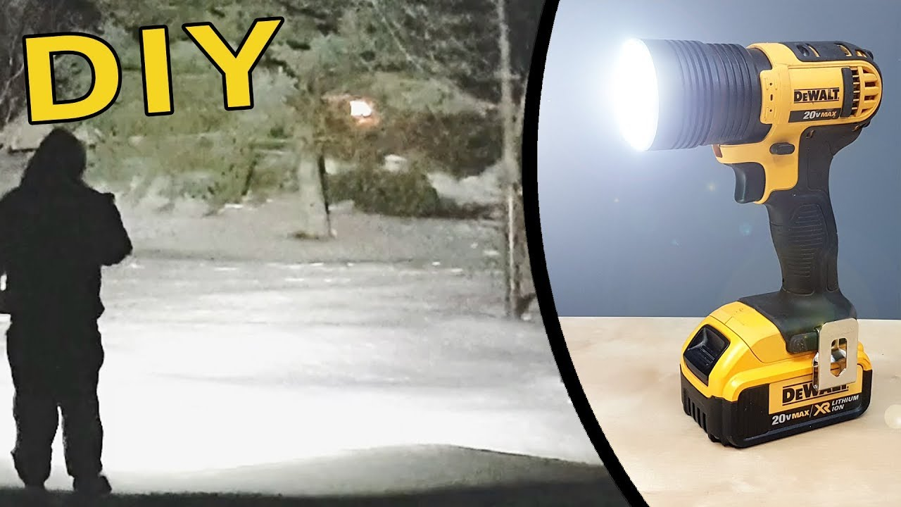 Diy How To Make A Super Bright Flashlight Dewalt 20v