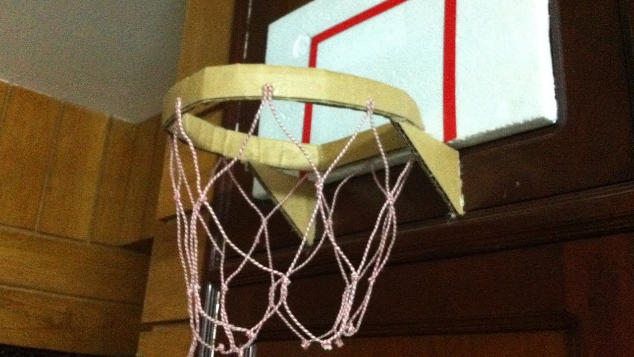 How to make a homemade basketball net how make an easy for Homemade basketball court