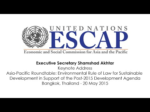 Executive Secretary Akhtar's Statement at the Asia-Pacific Roundtable on Environmental Rule of Law
