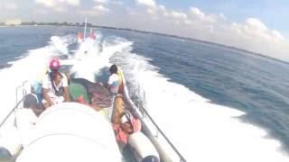 Testing Yasicha Yac 300 on fast boat