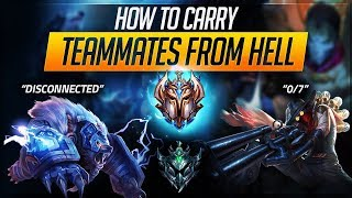 CARRY TEAMMATES FROM HELL: Inting, DC, Plat vs Challenger | League of Legends Guides