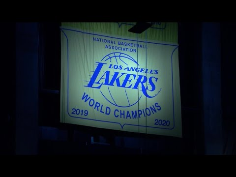 Los Angeles Lakers unveil 2020 NBA championship banner with ...