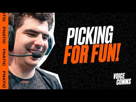 'Picking For Fun!'   Fnatic Voice Comms - LEC Spring W9