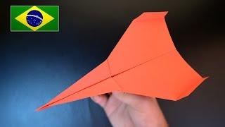 Origami: Avião de Papel Júpiter / Voa muito bem - Instruções em Português PT BR