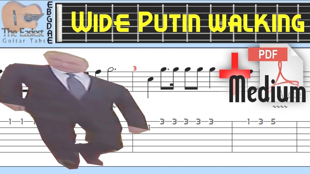 Wide Putin Walking Guitar Tab Youtube