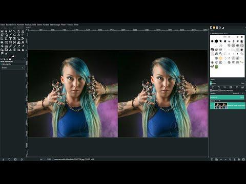 Gimp 2.10.14 Lernvideo: Porträt raffiniert schärfen! thumbnail