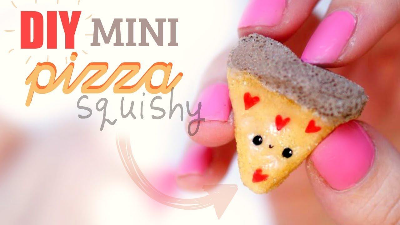 DIY MINI PIZZA SQUISHY Memory Foam Kawaii Valentines