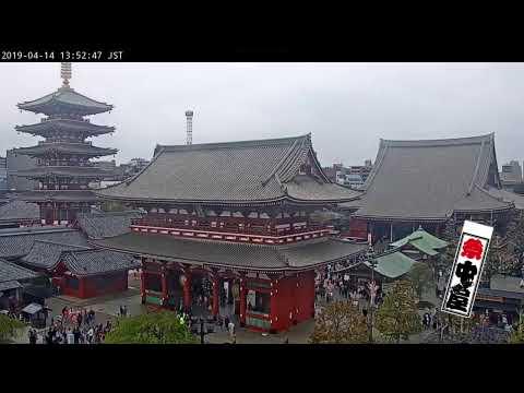 【LIVE CAMERA】浅草(ASAKUSA)のライブカメラ/浅草中屋 (ASAKUSA NAKAYA) 屋上よりの映像