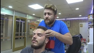 ASMR Turkish Barber Face,Head and Body Massage 147 👍💆‍♂️💈