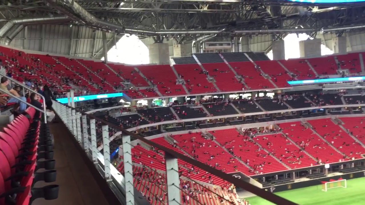 mercedes benz stadium section 309 row 1 seats 1 2 youtube