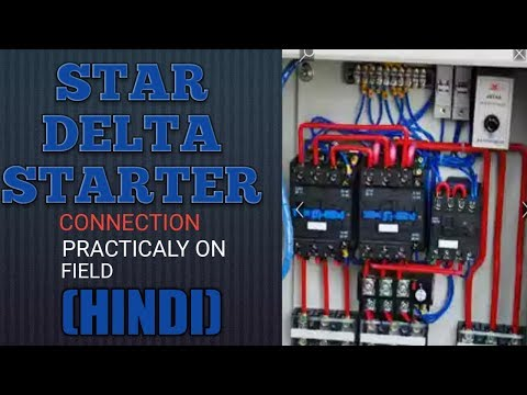 Star Delta starter connection(HINDI)
