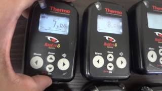 Lot of 6 Thermo RadEye G Gamma Radiation Detector - Personal Dose Rate Meter