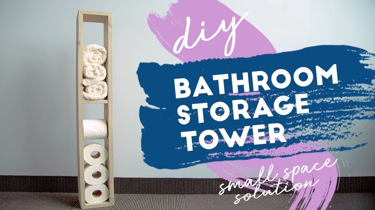 low priced d9369 8c319 DIY Bathroom Storage Tower   Small Space Solutions
