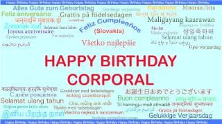 Corporal   Languages Idiomas - Happy Birthday