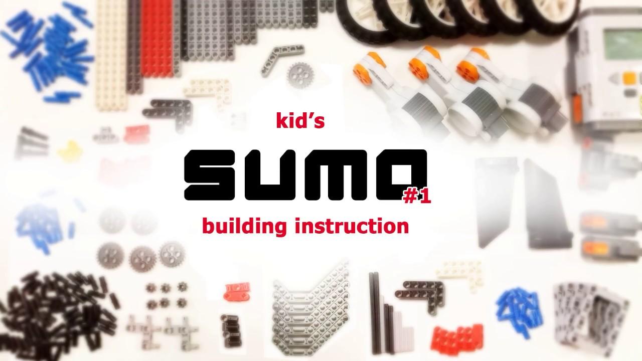 Lego SUMO bot #1   building instruction