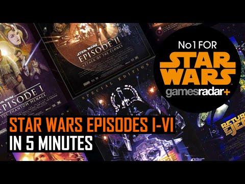 Star Wars Episodes I - VI in 5 Minutes