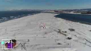 【空撮】石狩灯台と石狩河口 thumbnail