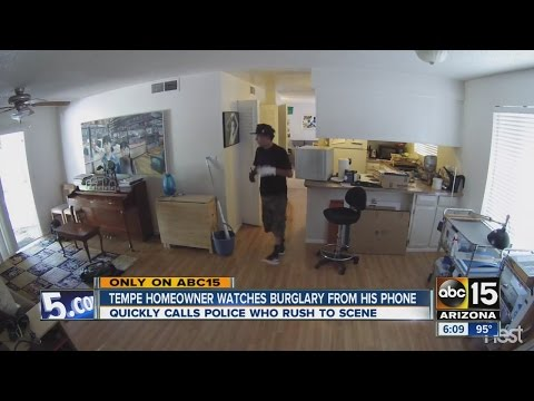Tempe homeowner watches burglary from his home