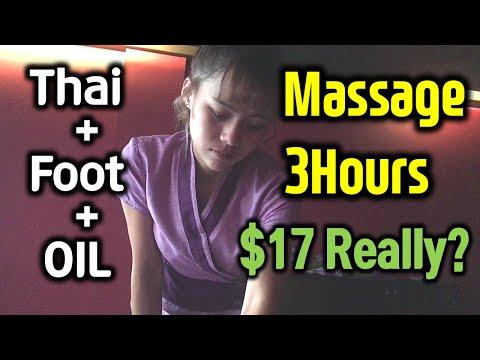 Phuket Thailand massage 3hours, Oil foot Thai massage Cute