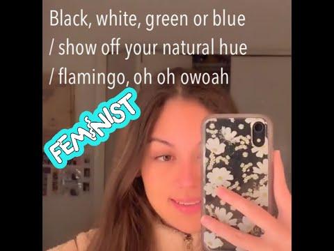 Black, White, Green Or Blue / Show Off Your Natural Hue / Flamingo Tik Tok Compilation