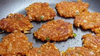 두부장떡~초간단레시피/ 쫀득쫀득 바삭바삭 한 두부장떡 …