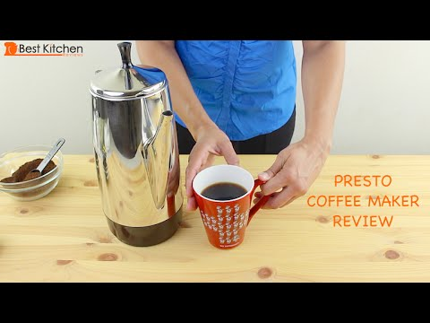 presto 12-cup stainless steel coffee maker review -