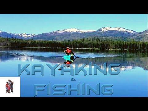 Kayaking & Fishing At Warm Lake, Cascade. Idaho.
