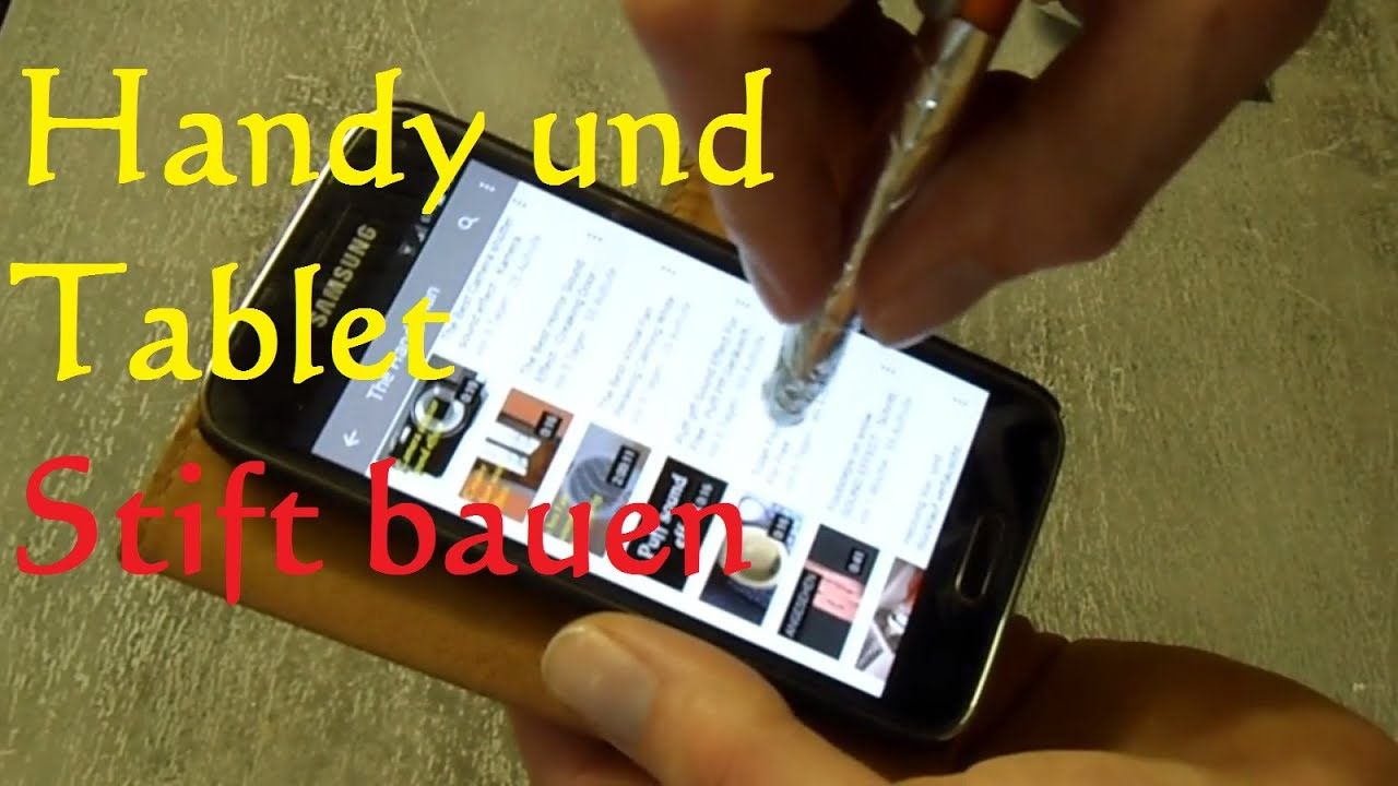 diy stylus pen stift f r smartphone und tablet in 1 min selber bauen youtube. Black Bedroom Furniture Sets. Home Design Ideas