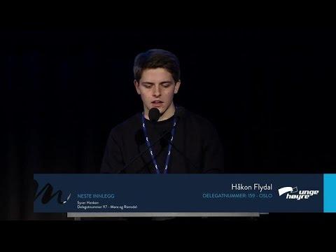 Håkon Flydal, Oslo - Beretningsdebatt