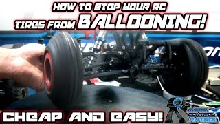RC Patrol - How to Tape an RC Truck Tire - Ballooning be Gone - with DaveM