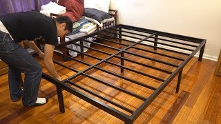 Noah Group Megatron Metal Bed Frame Assembly and Review (Queen Size)