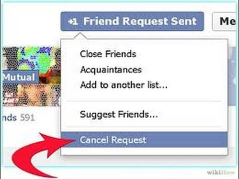 How To Cancel Pending Friend Requests On Facebook - YouTube