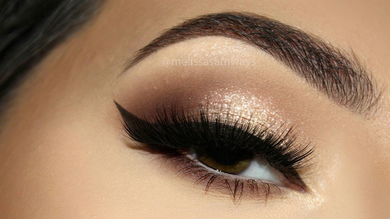 Sophisticated Glitter Champagne Makeup Tutorial Melissa