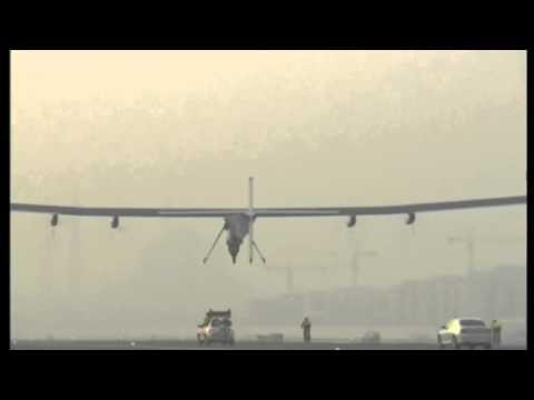 Solar plane takes off on landmark flight     00:55