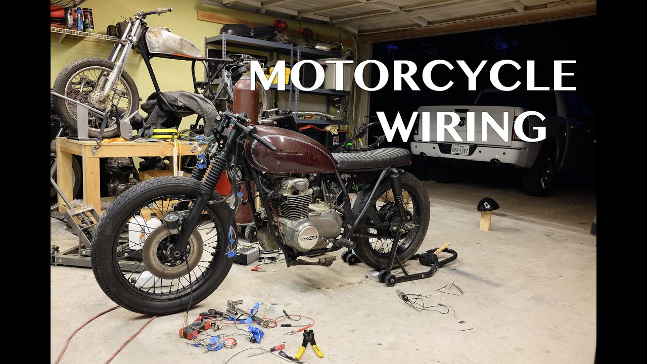 small resolution of cb550 cafe racer brat build wiring youtubecb550 cafe racer brat build wiring st youtube simple wiring diagram honda