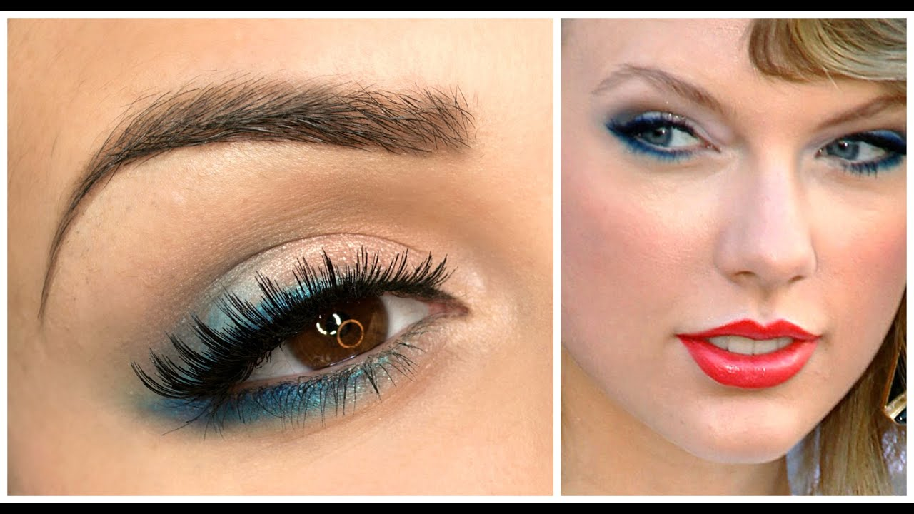 spesso Taylor Swift inspired - Soft blue make up tutorial - YouTube IH91