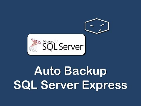 automatic backup an sql server express database