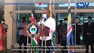 Kilifi Governor applauds Akothee for her unwavering support to his people during Covid-19 pandemic