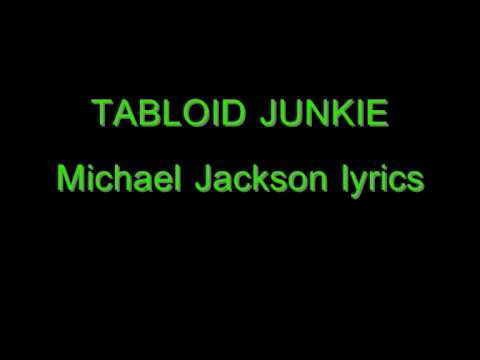 Tabloid Junkie Lyrics