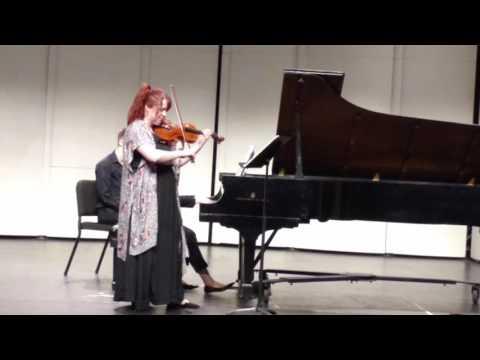 Lauren Grad Recital Violin Sonata No. 3 in d minor part2
