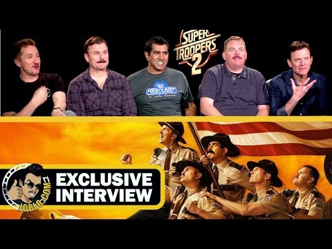 SUPER TROOPERS 2 Exclusive Interview with the Cast! (2018) Brozen Lizard Movie | JoBlo.com