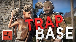 TRAPPING Players and ROCKING Them to Death - Rust (Trap Base Gameplay)