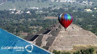 Viajes en globo aerostático sobre Teotihuacán. De Tour 09/05/15