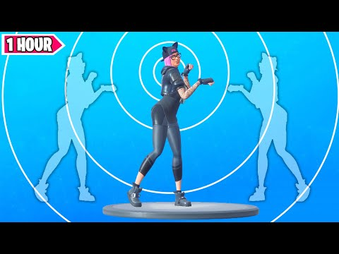 Fortnite PAWS & CLAWS Emote 1 Hour Version [ With Lynx Cat Skin]