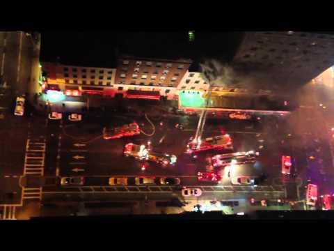 NYFD fights fire on 8th Av & 44th Street 2014