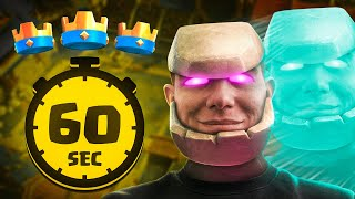 3 CROWN in 60 SECONDS! UNSTOPPABLE GOLEM CLONE DECK!