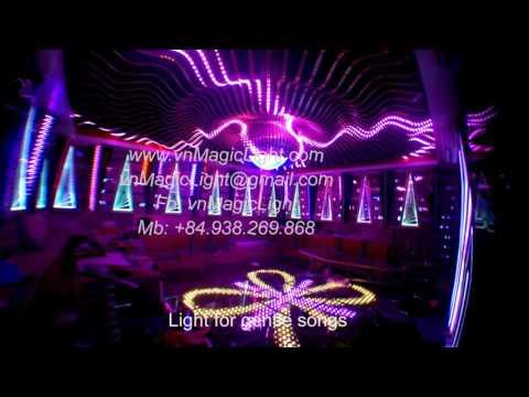 """Karaoke light in Viet Nam, with """"The Octopus"""" model room"""