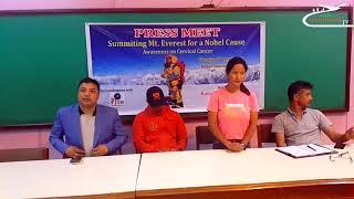 Photojournalist Purnima Shrestha climbing Everest for awareness on cervical cancer