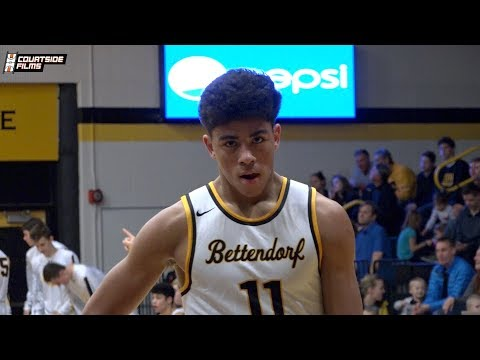 Ohio State Commit DJ Carton Highlights in a Win for Bettendorf!